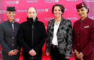 Helsinki greets first Qatar Airways flight with warm welcome