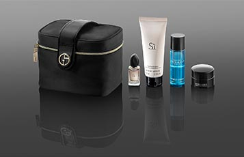 Qatar Airways launches Giorgio Armani First Class amenity kits