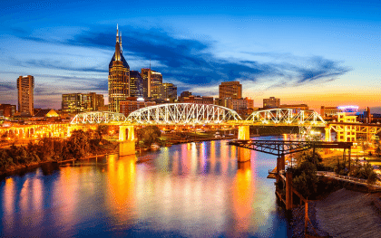 Nashville is the costliest US urban destination to stay overnight
