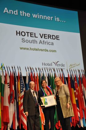 "Skål International Sustainable Tourism Awards votes Hotel Verde ""Best Urban Accommodation"""