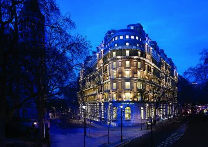 London's Corinthia Hotel receives traveler award