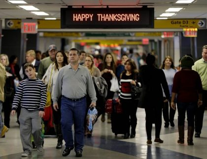 A4A: Thanksgiving air travel to rise 2.5 percent in 2016