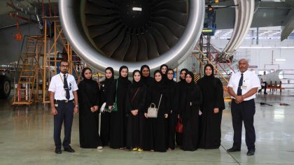 Etihad Airways helps engineers the future with student tours