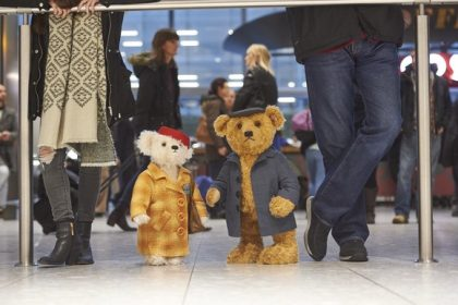 Christmas bears Doris and Edward land at Heathrow