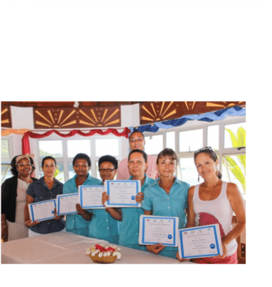 Hospitality staff get in-service training in the Seychelles