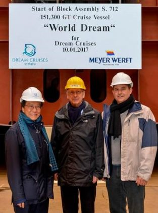 Genting Hong Kong celebrates keel laying for World Dream