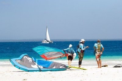 Epic kiteboard journey reaches Zanzibar's Nungwi point