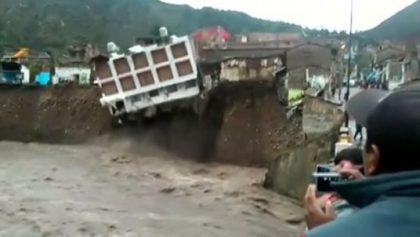 Peru hotel gone with landslide