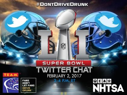 US Department of Transportation: Fans don't let fans drive drunk on Super Bowl Sunday
