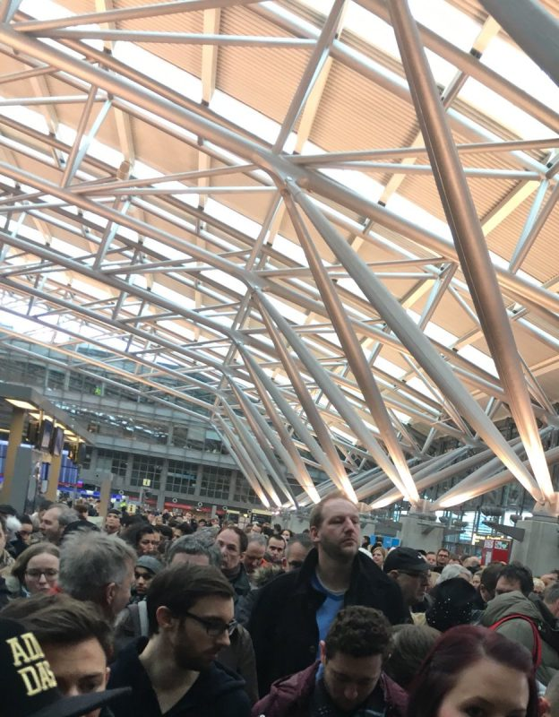 """Hamburg airport evacuated, closed after """"unknown substance"""" inhalation makes 68 people sick"""