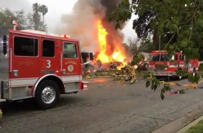 California: Plane crashes and bursts into flames