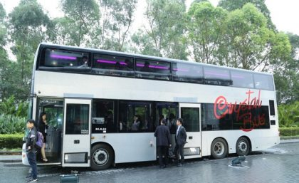 Hong Kong's first sightseeing restaurant bus launched