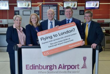 New London rail express sales service launches at Edinburgh Airport