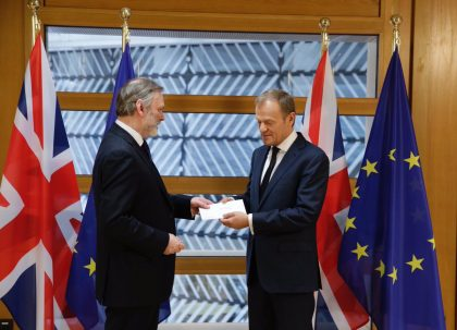 UK triggers Article 50, begins formal divorce from European Union