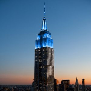 Oceana and UN light Empire State Building blue for World Oceans Day