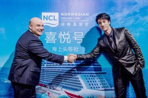 Norwegian Joy christened by Wang Leehom in Shanghai