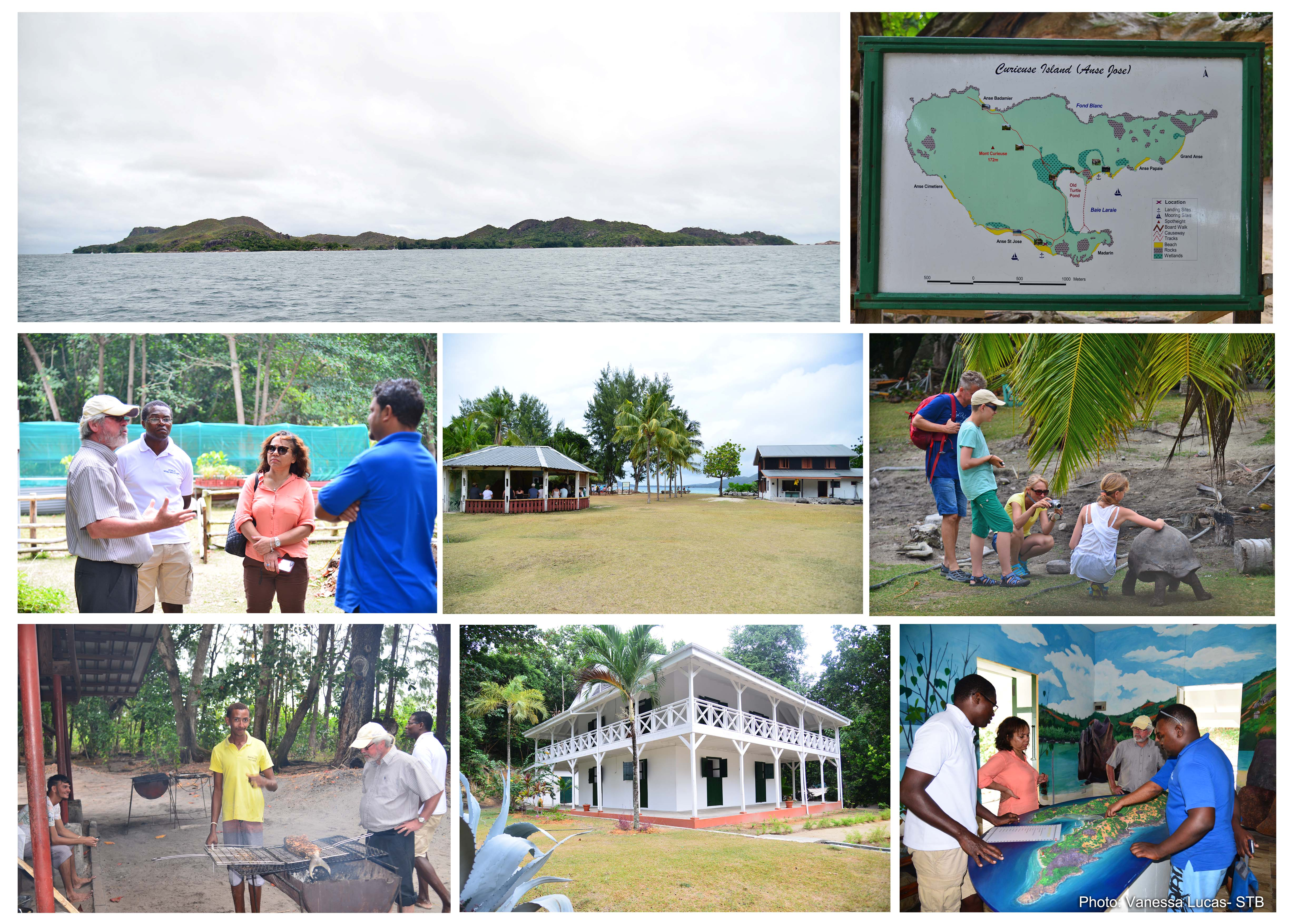 Tourism Minister inspects ongoing projects by the SNPA to improvevisitors' experience on Curieuse