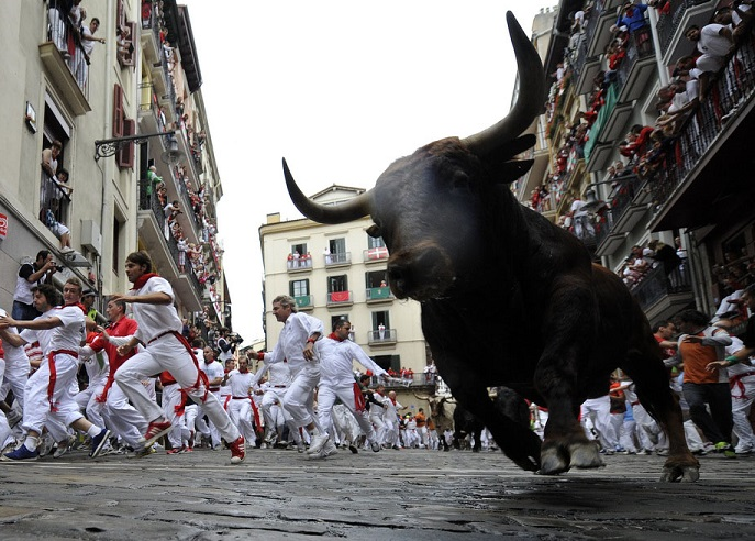 Three tourists gored at San Fermin bull running festival in Pamplona
