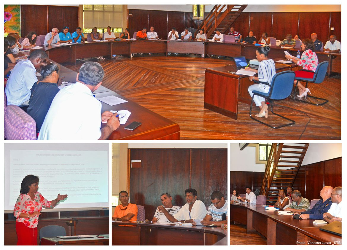Tourism Department consults stakeholders on new policy for water sport businesses in Seychelles