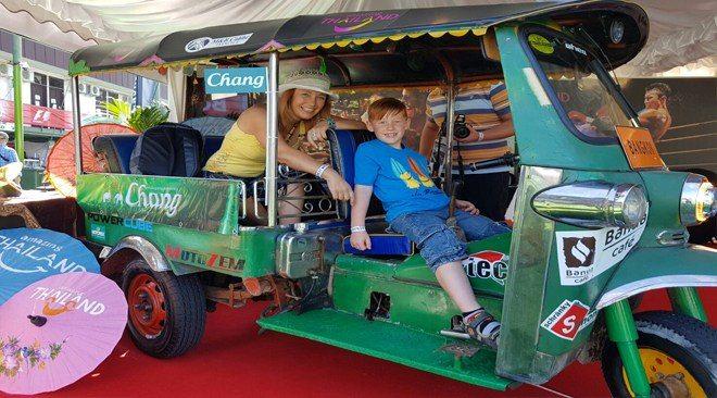Thailand Tuk Tuk driven from Bangkok to Prague: The star of Formula 1