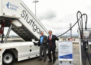 New eco-friendly synthetic diesel fuels Stuttgart Airport fleet