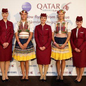 Qatar Airways Lands At Vaclav Havel Airport Prague