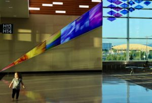 """Art showing """"Who We Are"""" installed at Minneapolis Airport"""