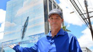 Wyland begins repainting landmark marine life murals near Honolulu Airport
