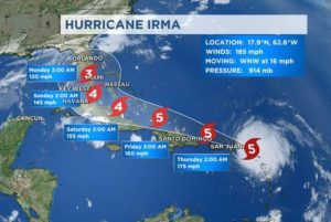 """Residents and tourists evacuate Florida: Hurricane Irma now a """"Superstorm"""""""