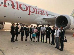 Africa's first Boeing 787-9 Dreamliner touches down at Delhi International Airport