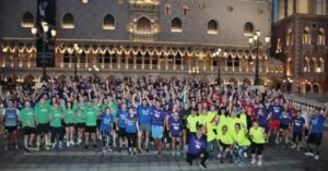 Las Vegas strip full of runners from IMEX