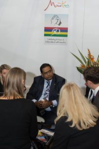Minister of Tourism for Mauritius first day at WTM London