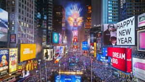 New Years at Times Square in New York: A Chinese tourism promotion