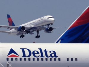 Delta Air Lines carried 14.4 million passengers in December 2017