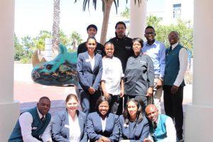 The Radisson Blu Hotel Waterfront rhino arrives