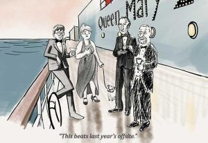 """Cunard Cruise Line and The New Yorker partner for """"Cartoonists at Sea"""""""