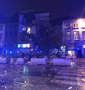 At least five people injured in massive explosion, building collapse in Antwerp, Belgium