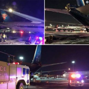 China Southern Airline collided with Kuwait Airways at JFK