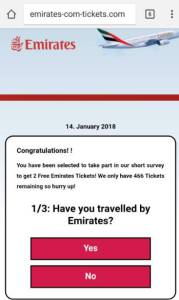 Travelers warned: Two free airline tickets on Emirates could mean losing your identity