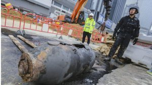 Thousands evacuated after WWII bomb found at Hong Kong harborfront