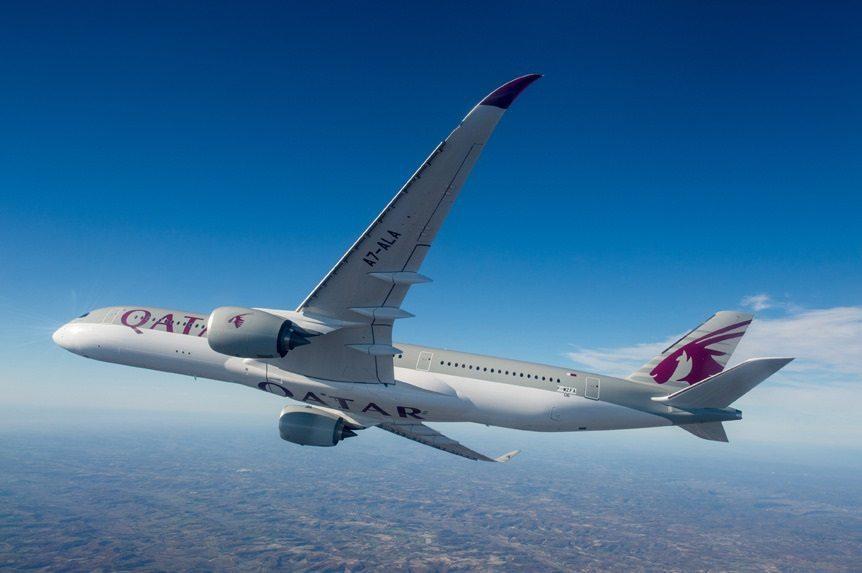 Qatar Airways' cutting-edge Airbus A350 lands in Atlanta