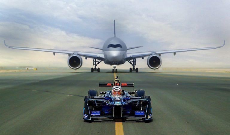 Spark SRT-01E vs. Dreamliner: Qatar Airways and Formula E create world showcase race