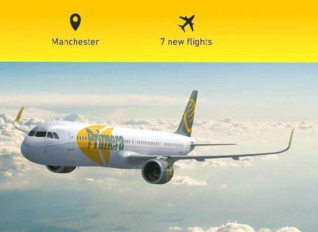 Primera Air expands in UK with seven new flights, Manchester addition