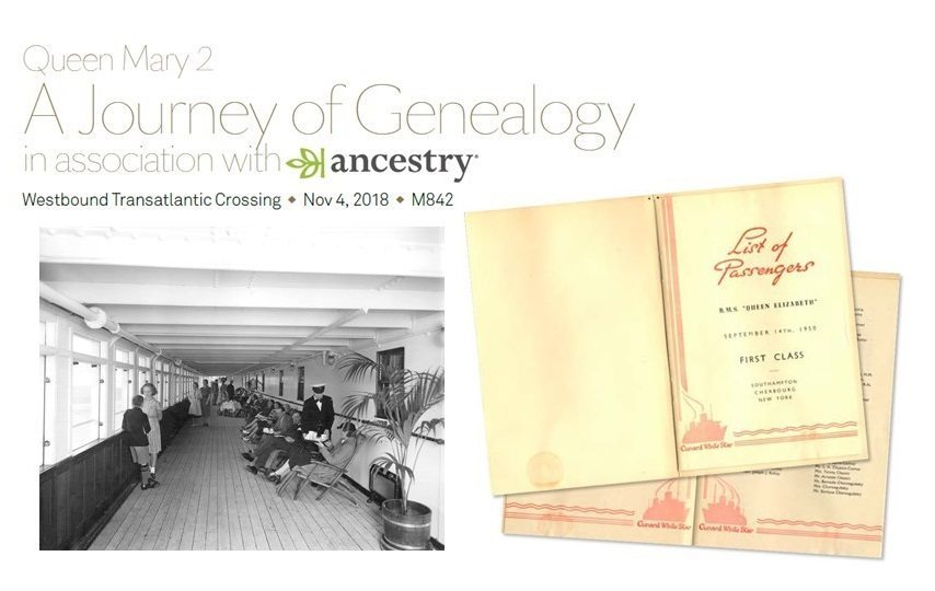"""A Journey of Genealogy"": Cunard offers special event crossing on Queen Mary 2"