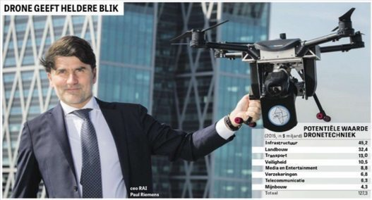 RAI Amsterdam CEO launches 'Amsterdam City of Drones' initiative
