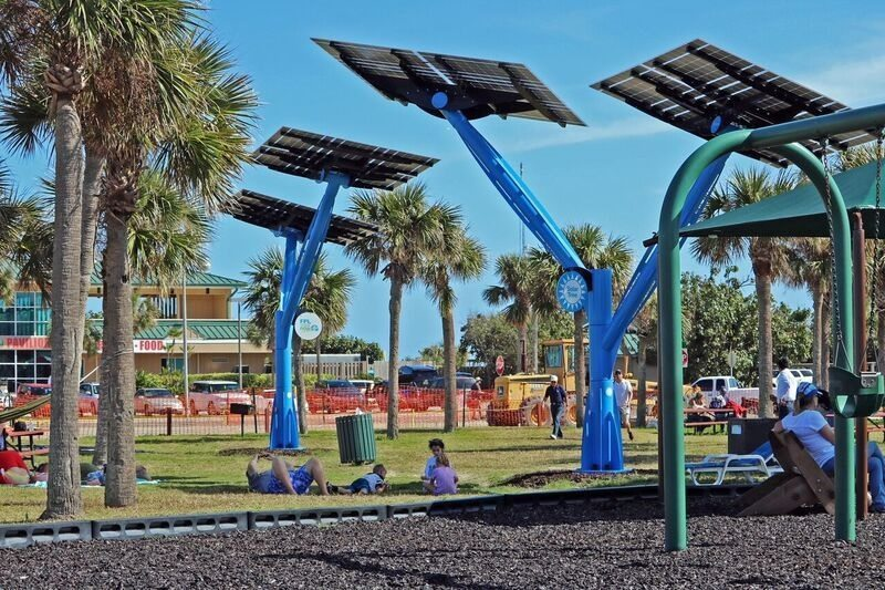 "Port Canaveral celebrates ""planting"" of solar trees"