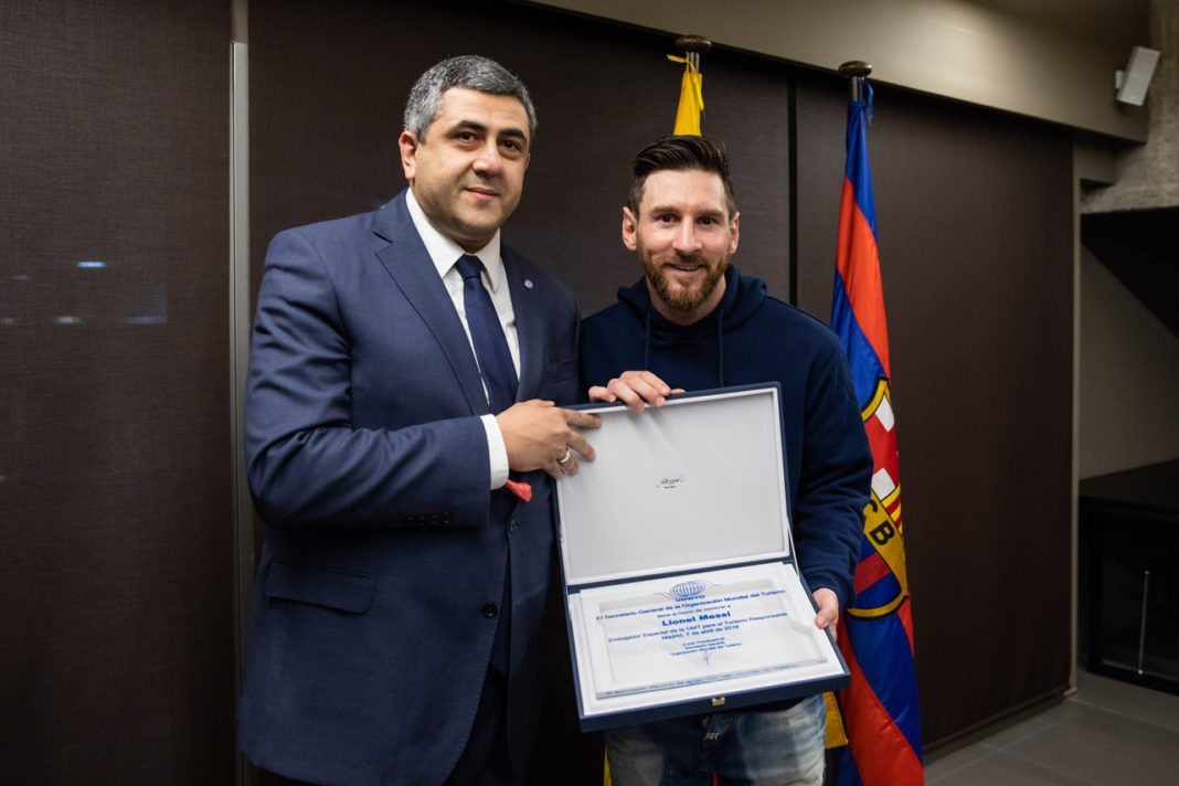 Football star Lionel Messi loves responsible tourism to become UNWTO Ambassador