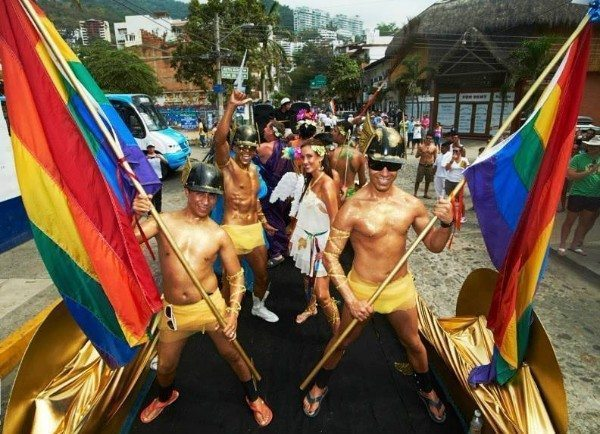 LGBT tourist hotspot Puerto Vallarta celebrates half-naked go-go boys and drag queens