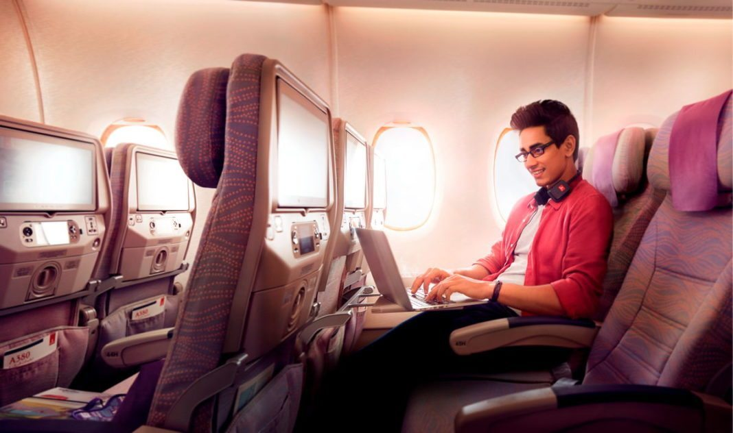 A record: One million Wifi connection at an airline….