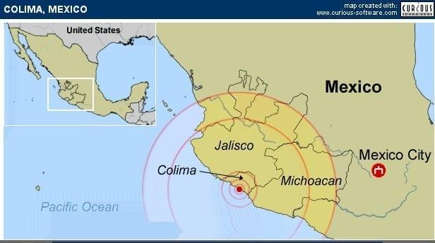 Mexican Pacific Ocean region hit by 6.1. Earthquake